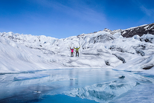 Glacier walk on the largest glacier in Europe