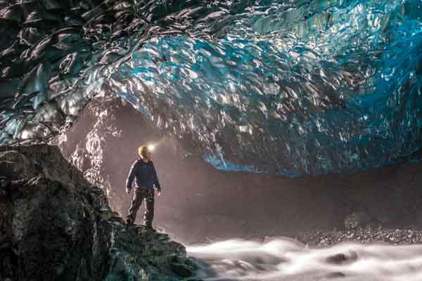 Blue Ice Cave Adventure