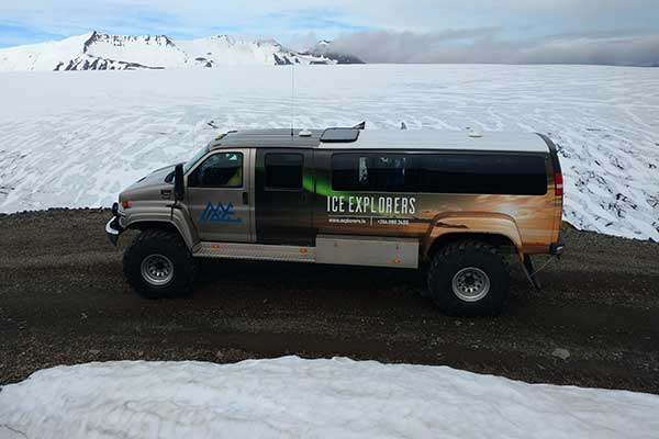 Super jeep on the Glacier