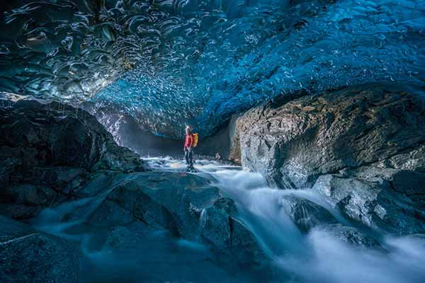 Discover the ice caves with local guides