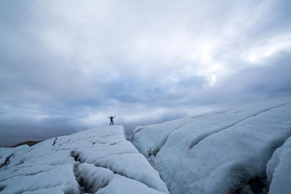 Glacier walk in Iceand