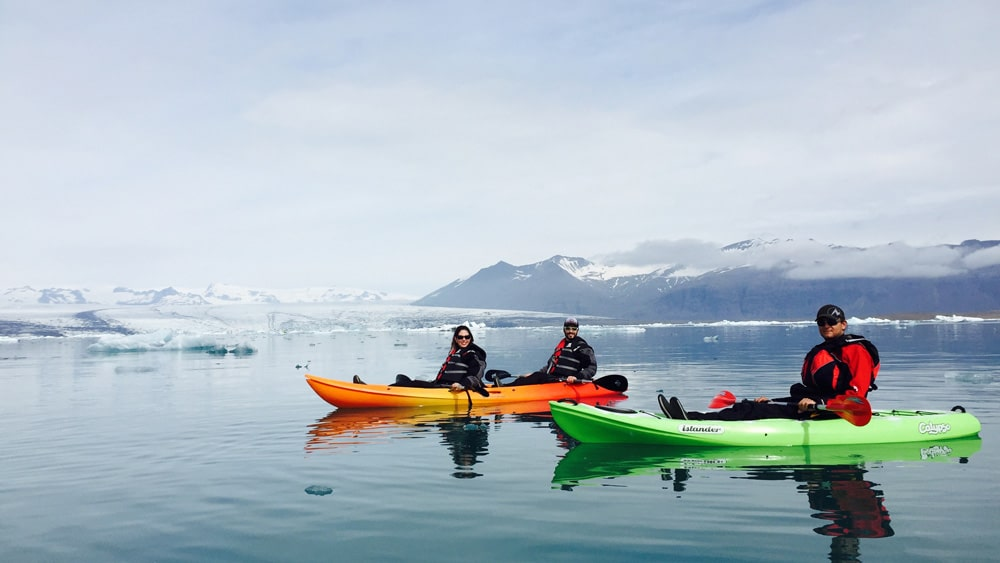 Jokulsarlon kayaking