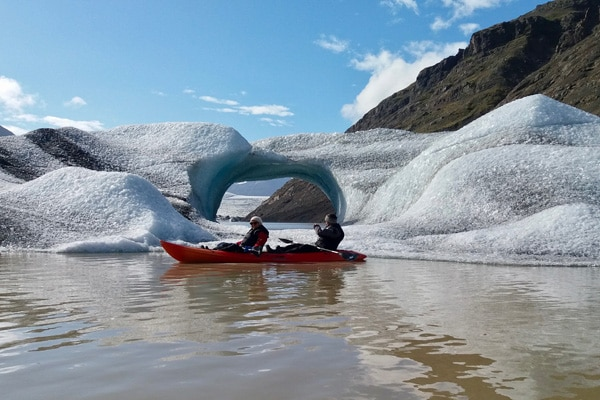 Glacier kayak adventure