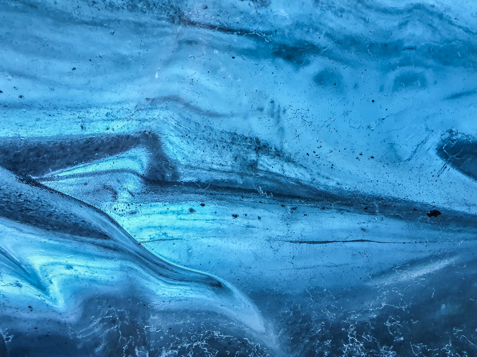 ice cave blue ice
