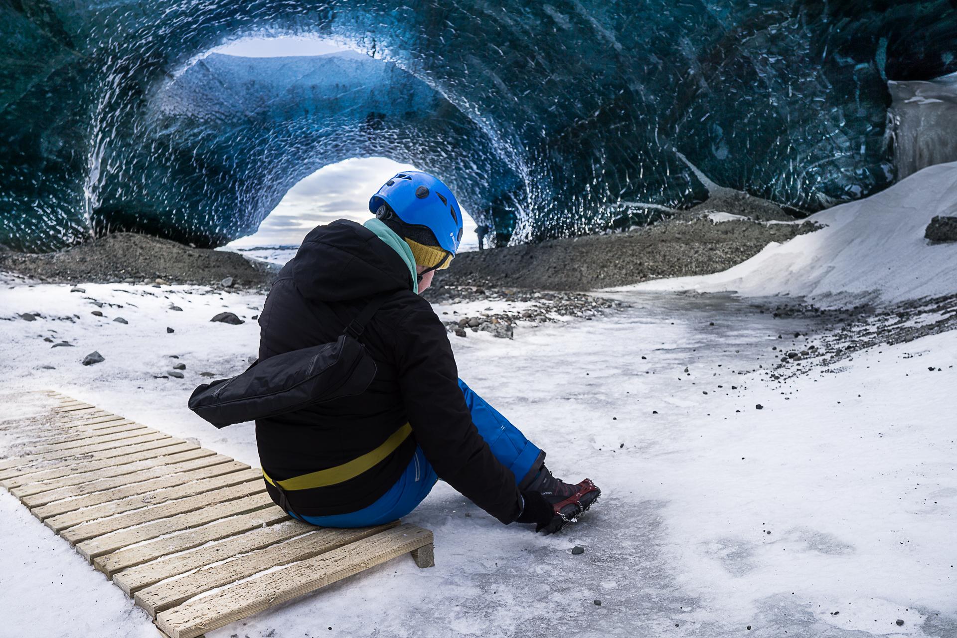ice cave enjoying